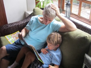 Story time with Grandma.