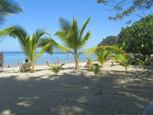 A quite beach on the Pacific side of Costa Rica.