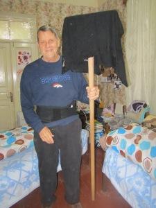 Shirt Mop on a stick.