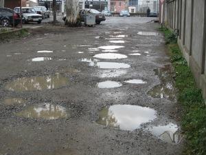 A street during the rainy season.