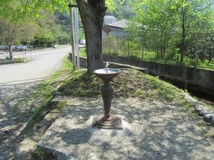 Public water fountain.