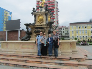At one of the many fountains in Batumi.