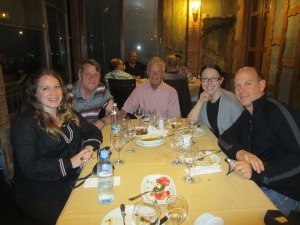Dinner with PCVs Amy Harris and Richard Letrende