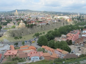 A view of part of Tbilisi from the Tbilisi fortress.
