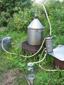Picture of a moonshine still