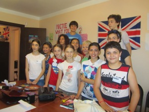 One of two summer English classes Suzanne taught in Batumi.