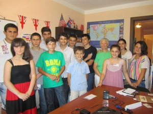 The second of two English classes Suzanne taught in Batumi.