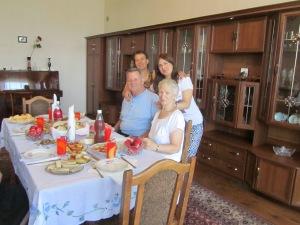 Nana, Nino, Tom and Suzanne in Telavi, Georgia.