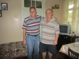 Tom and host dad Nodar. Nodar's birthday was July 23rd so he and Tom celebrated together.