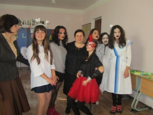 Halloween with some students and two teachers!